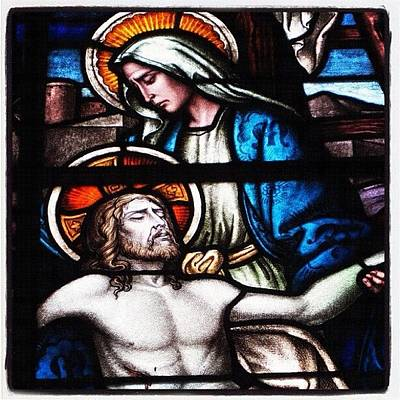 Glass Art Photograph - Jesus And Mary Stained Glass by Ben Vess