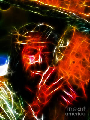 Jesus Carrying The Cross No2 Art Print by Pamela Johnson