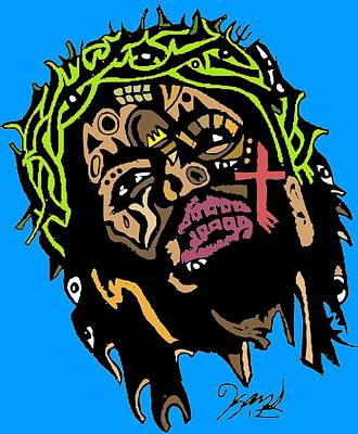 Blackart Digital Art - Jesus Christ by Kamoni Khem