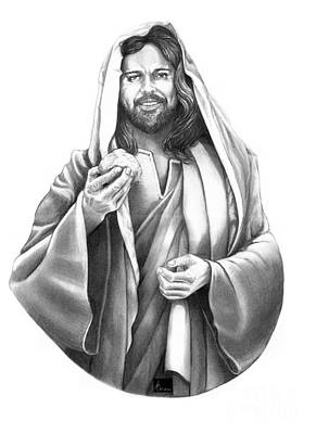 Pencil Drawing Of Jesus Drawing - Jesus Christ by Murphy Elliott