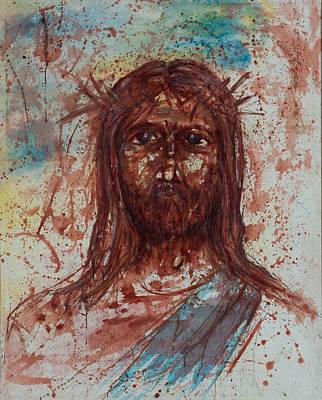 Statue Portrait Painting - Jesus Christ by Thomas Lentz