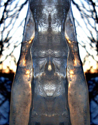 Fantasy Photograph - Jesus In An Icicle by Wesley Hahn