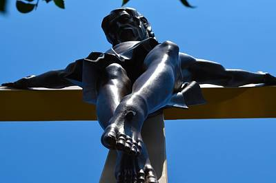 Photograph - Jesus In Bronze by Ted Kitchen