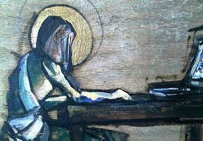 Painting - Jesus On Facebook by Kevin Davidson