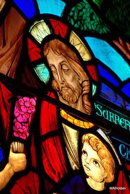 Jesus On Glass Original by Mark Holden