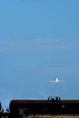 Photograph - Jet Airplane Take-off by Ed Gleichman
