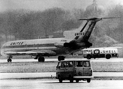 Terrorism Photograph - Jet Liner Hijacked To Cuba. The United by Everett