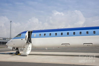 Airline Industry Photograph - Jet Plane With Extended Steps by Jaak Nilson