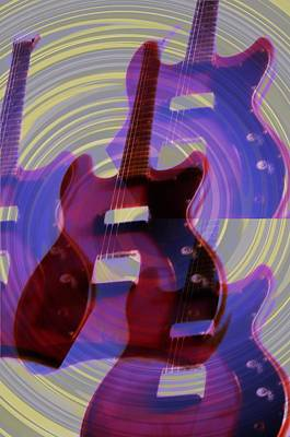 Music Digital Art - Jet Screamer - Guild Jet Star by Bill Cannon