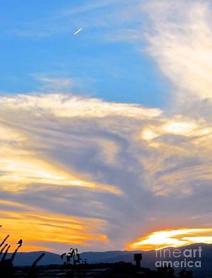 Photograph - Jet Sunset by Phyllis Kaltenbach