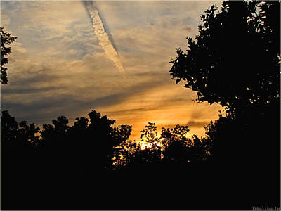 Photograph - Jet Trail Sunset by Debbie Portwood