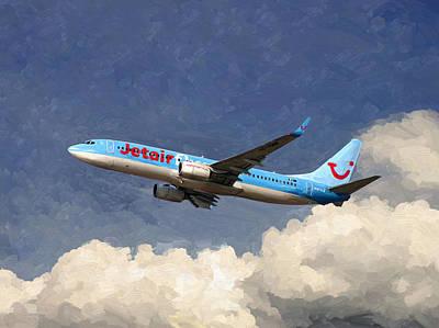Painting - Jetairfly Boeing 737 by Nop Briex