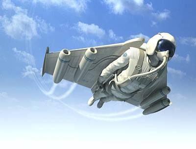 Jetman, Artwork Art Print by Henning Dalhoff