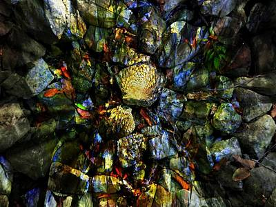Cavern Digital Art - Jeweled Cavern by Mindy Newman