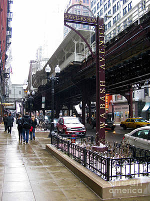 Photograph - Jewelers Row Wabash Avenue Chicago by Ausra Huntington nee Paulauskaite
