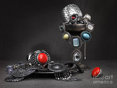 Silver-filled Photograph - Jewellery Still Life by Oleksiy Maksymenko
