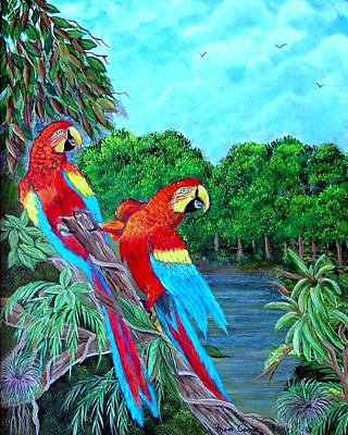 Painting - Jewels Of The Amazon by Fram Cama