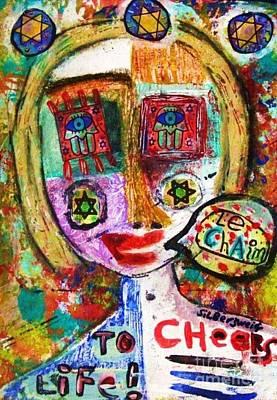 Jewish Angel Art Print by Sandra Silberzweig