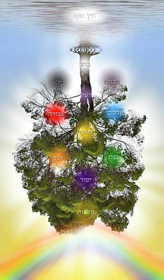 Digital Art - Jewish Tree Of Life With Sephiroth by Endre Balogh