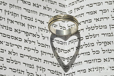 Wedding Band Photograph - Jewish Wedding Concept  by Shay Levy