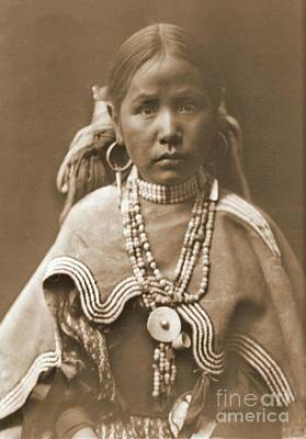 Pierced Ears Photograph - Jicarilla Maiden by Padre Art
