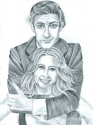 Jim And Pam Art Print by Crystal Rosene