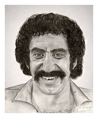 Hip Drawing - Jim Croce by Mark Mac