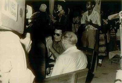 Jim Jones Sitting With Fact Finding Art Print by Everett