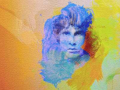 The Rolling Stones Painting - Jim Morisson by Naxart Studio