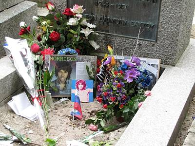 Photograph - Jim Morrison Grave by Keith Stokes
