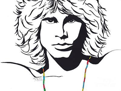 Jim Morrison Art Print by Marty Rice