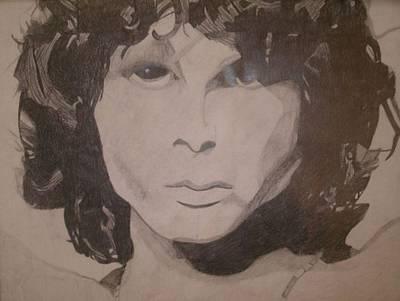 Drawing - Jim Morrison by Samantha L