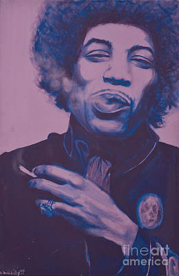 Sand Castles Mixed Media - Jimi by Derek Donnelly