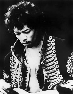 Jimi Hendrix At The Monterey Pop Art Print