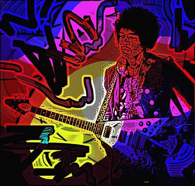 Photograph - Jimi Hendrix Number 22 by George Pedro