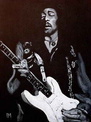 Guitar God Painting - Jimi Hendrix by Pete Maier