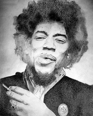 Jimi Hendrix - Small Art Print by Robert Lance