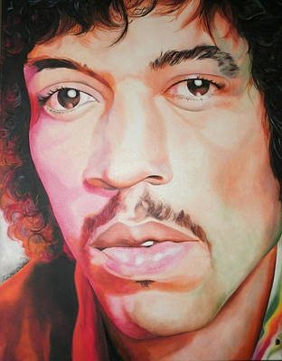 Jimi Hendrix Art Print by Timothe Winstead
