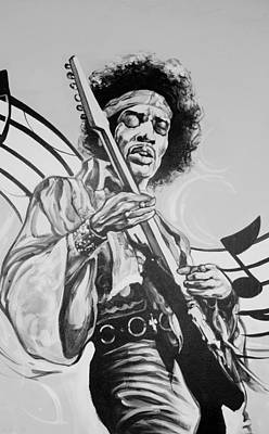 Photograph - Jimi In Black And White  by Rob Hans