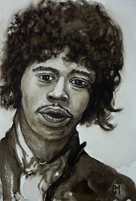 Jimi Art Print by Pete Maier