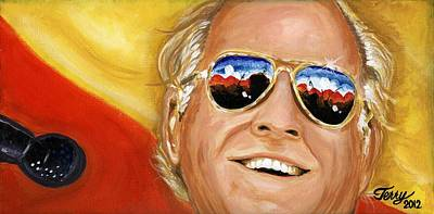 Painting - Jimmy Buffet At The Jazz Fest by Terry J Marks Sr