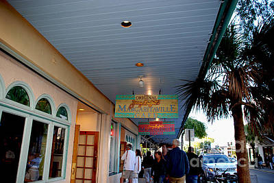 Sign In Florida Photograph - Jimmy Buffet's Margaritaville Key West by Susanne Van Hulst