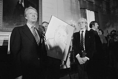 Peter Max Photograph - Jimmy Carter With Andy Warhol by Everett