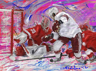 Jimmy Howard II Art Print by Donald Pavlica