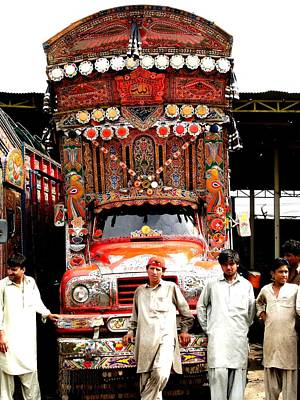 Photograph - Jingly Trucks And People by Fareeha Khawaja