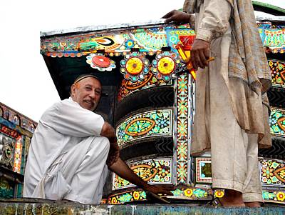 Photograph - Jingly Trucks Artist by Fareeha Khawaja