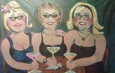 Painting - Jmacs Girls by Doralynn Lowe