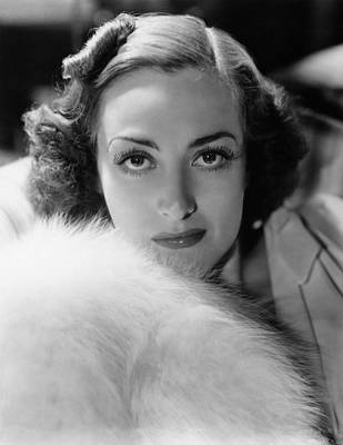 1930s Hairstyles Photograph - Joan Crawford, Ca. Late 1930s by Everett