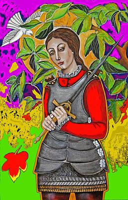 Christina Miller Painting - Joan Of Arc Photoshop by Christina Miller