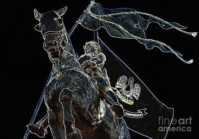 Digital Art - Joan Of Arc Statue French Quarter New Orleans Glowing Edges Digital Art by Shawn O'Brien